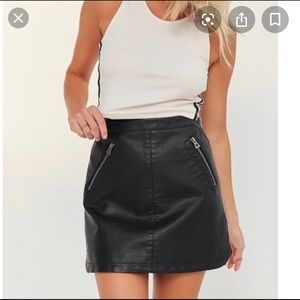 Urban Outfitters Silence Noise Leather Mini Skirt